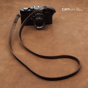 Leather camera strap, brown, CAM2611