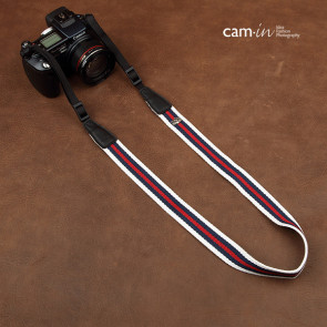 Cotton camerastrap with stribes, CAM8140a
